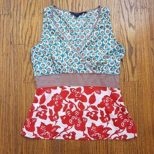 Pretty Boden Sleeveless Cotton Print Top US 6
